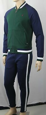 Polo Ralph Lauren Performance Vert Bleu Sweatshirt Zip Complet Survêtement