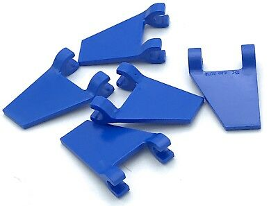 Lego 5 New Trans-Light Blue Flag 2 x 2 Trapezoid Pieces