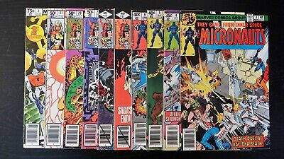 1978 Marvel Comics Lot Of 10 Assorted The Micronauts Mixed Grade Flat Rate S/H