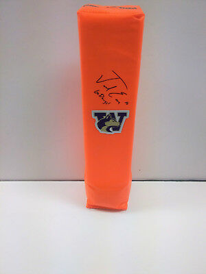 Jacob Emi Washington Huskies Calcio Autografato Endzone Pylon