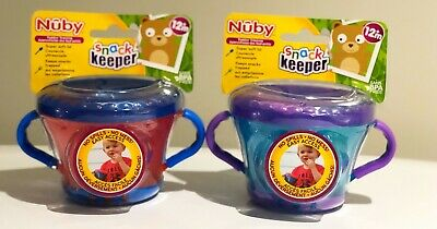 Nuby Child Toddler Snack Keeper and 2 Handle Training  12+months (Pack of 2)