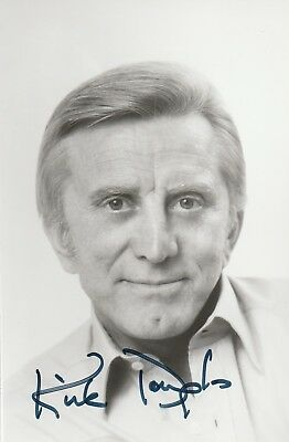 Autographe Original: KIRK DOUGLAS / Photo Argentique - Vintage