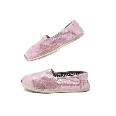 4c92bc545eb8 Women's Toms Shoes Classics Pink Sparkle Shimmer Glitter Slip on Size 10