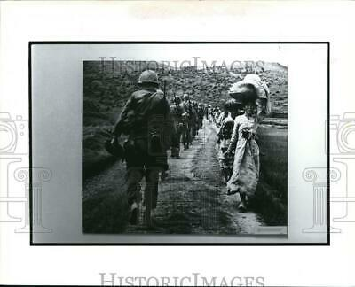 KOREAN WAR PRESS Photo Gasoline Drum Pushed out of Plane in