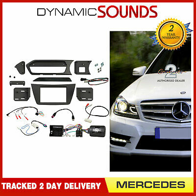 CTKMB13 Double Din Black Fascia Car Stereo Fitting Kit for Mercedes C Class CLK