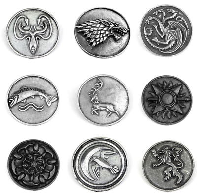 Game of Thrones Houses Pin Brooch Abzeichen Anstecknadel Reversnadel Stark