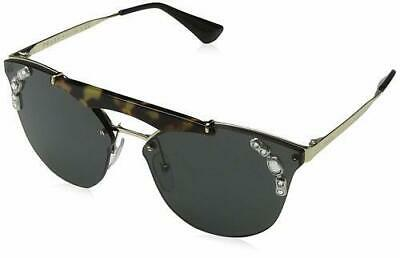 106718606c NWT PRADA WOMEN S Geometric Sunglasses PR10TS 1AB580 52 Black Made ...