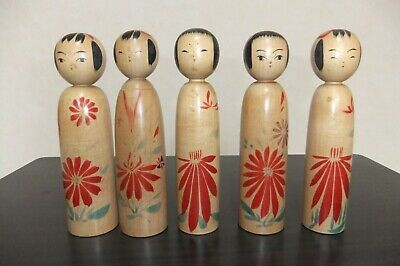 Kokeshi is a vintage Japanese Kokeshi. Five girls are 15 centimeters high f/s