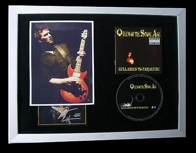 Queens Of The Stone Age+Signed+Framed+Lullabies=100% Authentic+Fast Global Ship