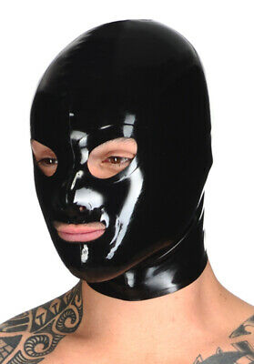 Latex Catsuit Rubber Gummi Hood Basic Eyes Open Durable Mask Cool Customize .4mm