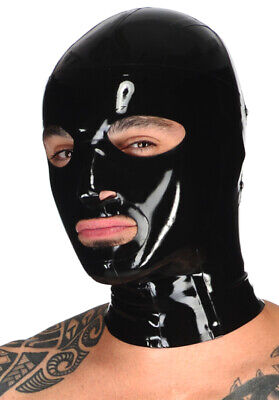 Latex Catsuit Rubber Gummi Hood Unique Buckle Durable Mask Cool Customize .4mm
