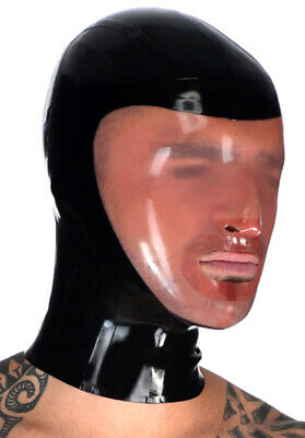 Latex Rubber Gummi Full Face Intriguing Mouth Hole Hood Mask Customized 0.4mm