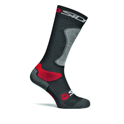 Sidi Road Motorcycle Motorbike Mx Off Road Motocross Race Boot Socks Black Grey