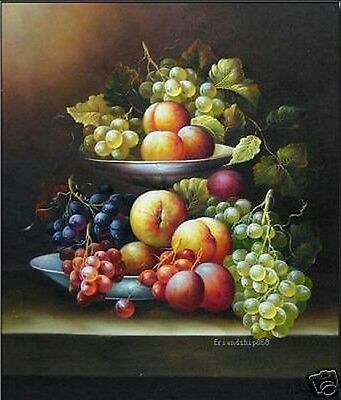 """Art Repro oil painting:""""Still Life Fruit at canvas"""" 24x36 Inch"""