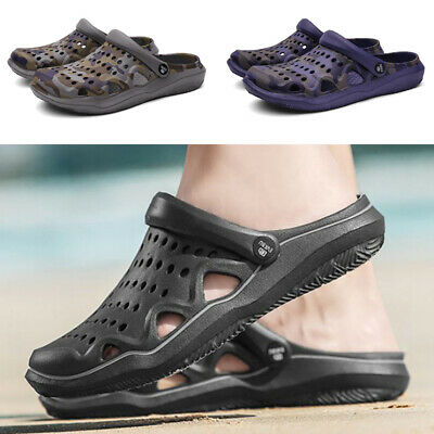 Mens Sandals Shoes Slippers Hole Summer Casual Beach Slip on Vacation Camouflage