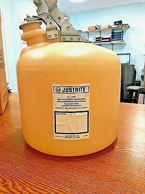 JustRite Polyethylene Body SAFETYCAN 9.5L(2 1/2G) No.12260 solvent Container Can