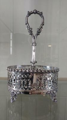 Superb Antique William Hutton Silver Plated Condiment Stand C 1843+