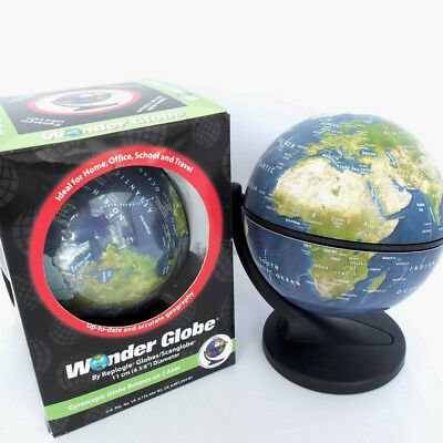 DESK GLOBE. REPOGGLE WONDER GLOBE FULLY ROTATING ON 2 AXIS. 11cm DIAM. BOXED