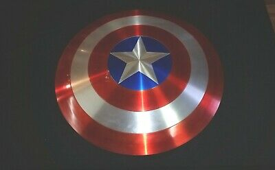 "Custom Captain America Shield 26"" Metal Prop Replica Avengers Infinity Cosplay"