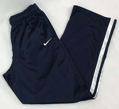439d7c390 Nike Youth Boys XL Navy Blue White Stripe Drawstring Elastic Athletic  Sweatpants