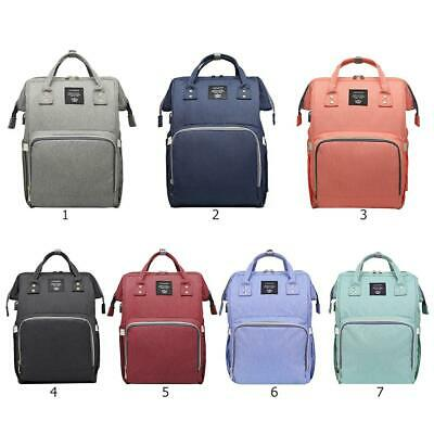 USB Multifunctional Baby Diaper Backpack Changing Bag Nappy Waterproof Mummy