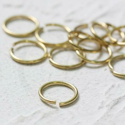 100 Pieces Raw Brass Double Jump Ring Spring Ring 6x0.7mm CW-1978C-F-533