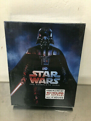 NEW Star Wars: Complete Saga episodes 1-6 Movie Box Set 9-Disc Blu-Ray Sealed US