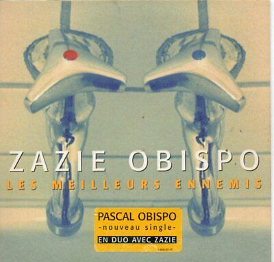 CD single ZAZIE & Pascal OBISPO	Les meilleurs ennemis 2-Track CARD SLEEVE STICKE