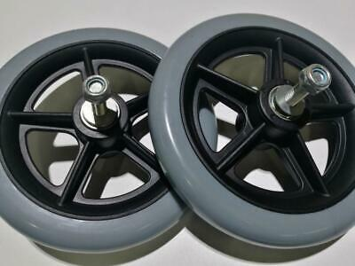"""1xpair 6"""" caster wheels,front wheels for manual wheelchair color gray"""