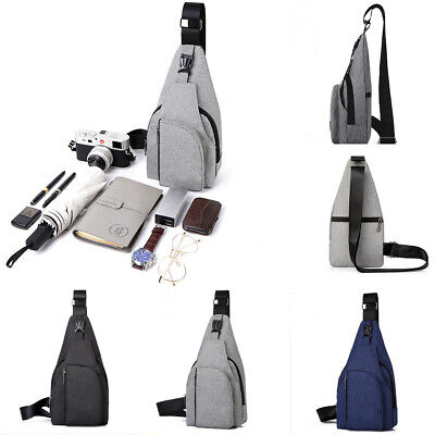 Men's Anti-theft Nylon Chest Sling Bag Cycle Backpack Shoulder Cross Body Pack