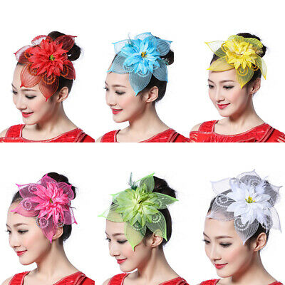 Large Headband Hat Fascinator Weddings Party Ladies Day Hearwear Flower Beads