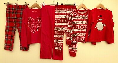 Girls Nightwear Bundle 5-6 Nutmeg Primark Matalan <D6231