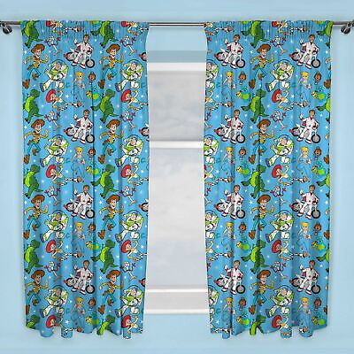"Toy Story 4 Rescue Curtains Readymade Kids Bedroom 72"" Drop"