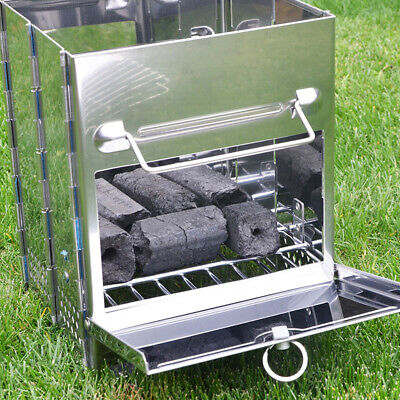 BBQ Barbecue Grill Folding Portable Charcoal Stove Camping Garden Outdoor