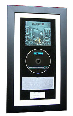 BILLY TALENT Dead Silence CLASSIC CD Album TOP QUALITY FRAMED+FAST GLOBAL SHIP
