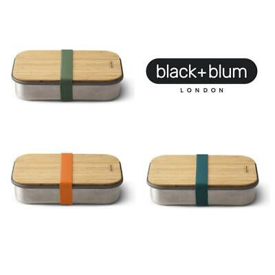 Black+Blum Sandwich Boxes Stainless Steel & Natural Bamboo Lunch/Snack Box