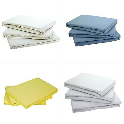 2 x Cot Bed Baby Pair of Fitted Sheets 100% Cotton Soft Jersey Fitted Sheets