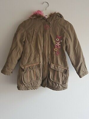 Girls Coat Ladybird 7-8 Khaki <EE9