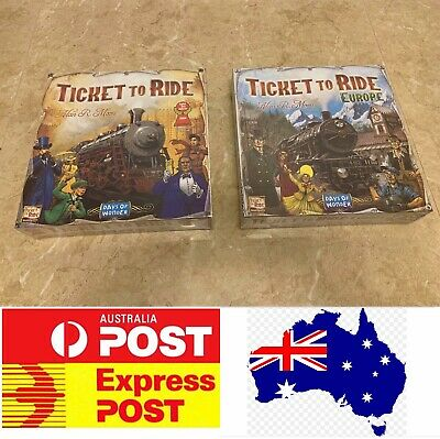 Ticket To Ride, American edition or Europe edition, AU stock, Express Post