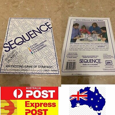 Sequence Board Game, Fun Family Board Game, AU Stock, Express Post