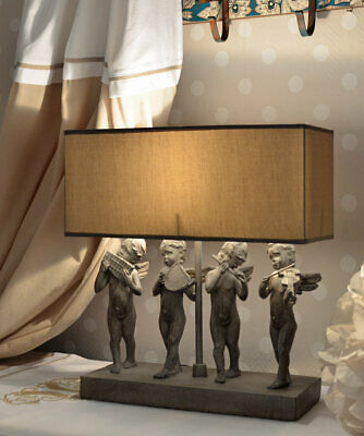 Table Lamp Country Style Light Cupid Desk Shabby Chic Figure Angel