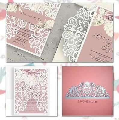 Lace Metal Cutting Dies Invitation Scrapbooking Craft Die Cut Wedding Love Dies