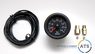 CP Ladedruck Anzeige 4bar 52mm Retro Boost Gauge 16V R32 VR6 Turbo S2 CP155