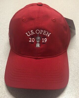 2019 PEBBLE BEACH RED LIMITED US OPEN TIGER WOODS RED Adjustable Hat NEW