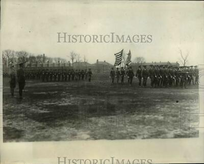 1930 Press Photo Col Albert Williams reviews regiment during retirement ceremony