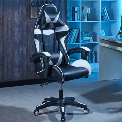 Gaming Chair Computer Seat Office Desk Sports Home Ergonomic Style Footrest New