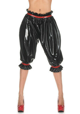 Latex Catsuit Rubber Gummi Stylish Long Bloomers Trousers Pants Customized 0.4mm