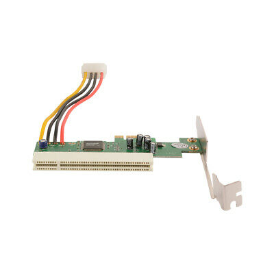 PCI Express PCI-E To PCI Adapter Card 32bit With 4pin Power Cable ASM1083 AC1718