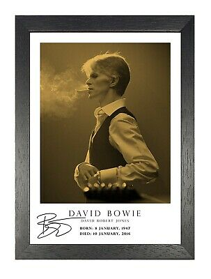 David Bowie 13 English Rock Star Legend Music Icon Actor Songwriter Poster B/&W