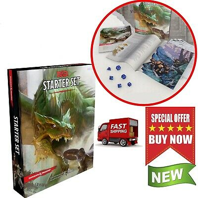 Dungeons And Dragons Starter Set Dice Fantasy Roleplaying DD Boxed 5th Edition